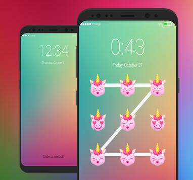 Pony Lock Screen Little UNICORN Emoji screenshot 3