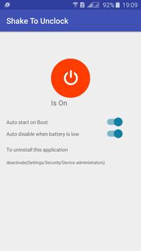 Shake To Lock, Shake Off apk screenshot