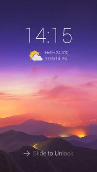 Beautiful Sky Theme ScreenLock apk screenshot