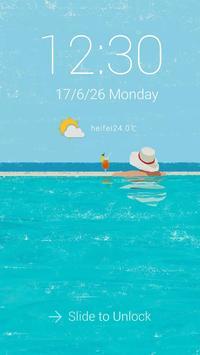 SUMMER Theme ScreenLock apk screenshot