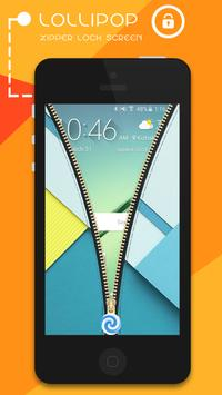 Lollipop Zipper Lock Screen apk screenshot