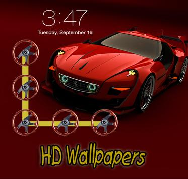 Luxury Car Screen Lock poster