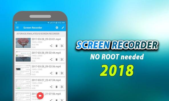 NO ROOT Screen Recorder - Free REC FullHD poster