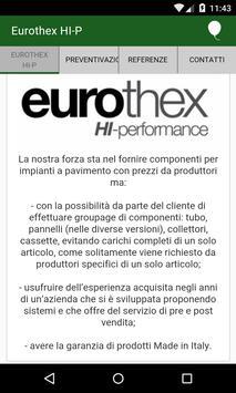 Eurothex Preventivazione poster