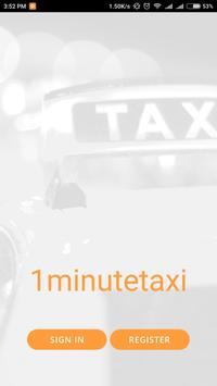 OneMinute Taxi poster