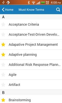 SCRUMstudy Agile Glossary apk screenshot
