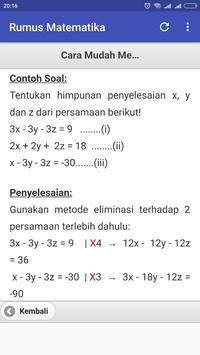 Rumus Matematika SD SMP SMA screenshot 4