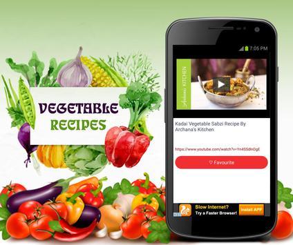 Vegetable Recipes apk screenshot