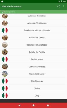 Historia de México apk screenshot