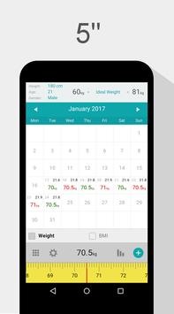 Weight Calendar - BMI & Weight Loss Tracker poster