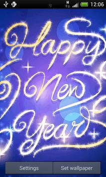 Blue New Years Live Wallpaper screenshot 1