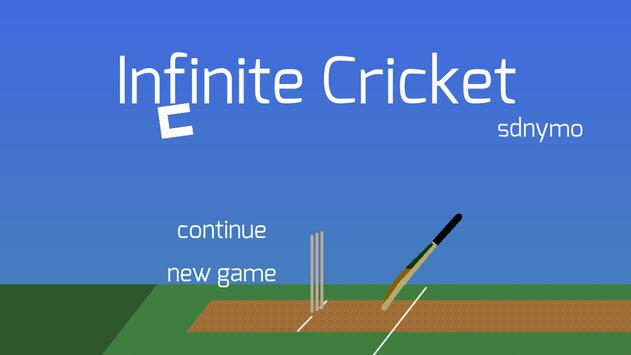 Infinite Cricket poster