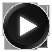 Poweramp Black and White Skin icon