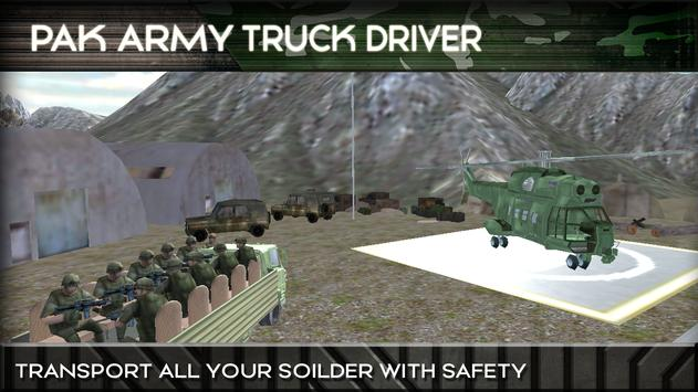 Pak Army Cargo Truck Driver poster