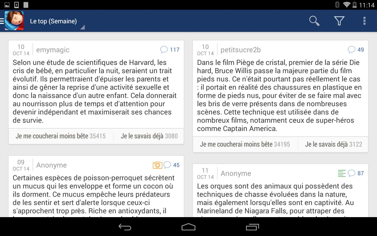 Se coucher moins b te for android apk download - Application se coucher moins bete ...