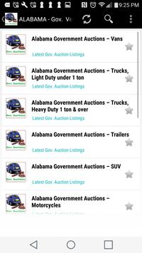 Government  Vehicle Auction  Listings - All States apk screenshot