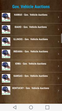 Government  Vehicle Auction  Listings - All States screenshot 1