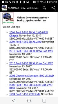 Government  Vehicle Auction  Listings - All States screenshot 5