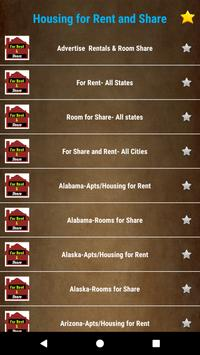 Rooms, Dorms, House/Apts for Rent & Share -All USA screenshot 1
