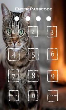 Cat Screen Passcode Lock apk screenshot
