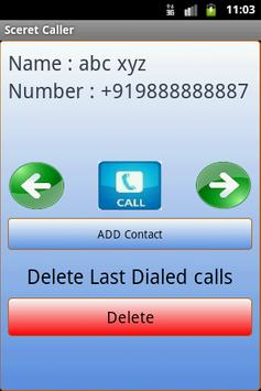 Secret Caller apk screenshot
