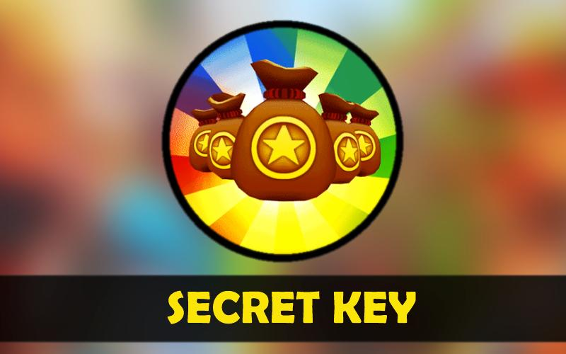 Secret key for Subway Surfers poster
