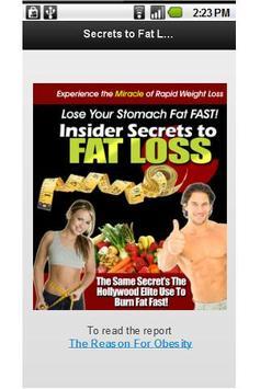 Secrets to Fat Loss Mini poster