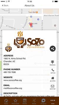 SoZo Coffeehouse App apk screenshot