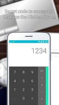 Secure Spaces Calculator apk screenshot