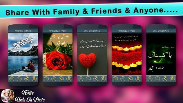 Write Urdu on Photo screenshot 6