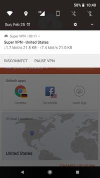Super VPN PRO screenshot 1