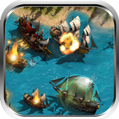 Sea Pirate Boat 3D icon
