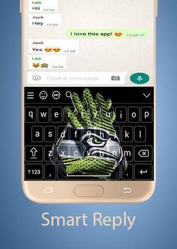 Seattle Seahawks Keyboard theme screenshot 2