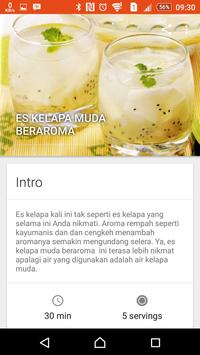 Resep Minuman & Makanan Segar poster