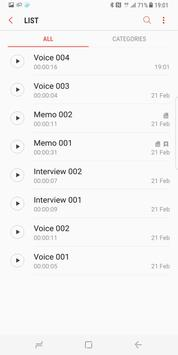 Samsung Voice Recorder apk screenshot