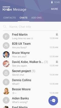 KNOX Message BETA Purple skin apk screenshot