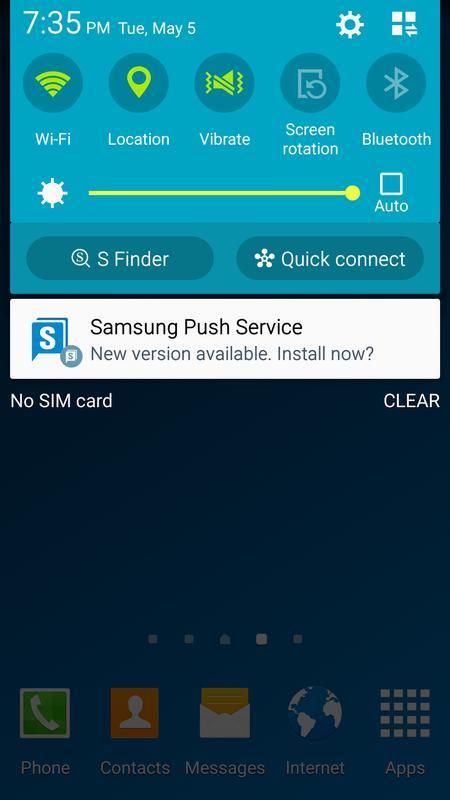 android what is samsung push