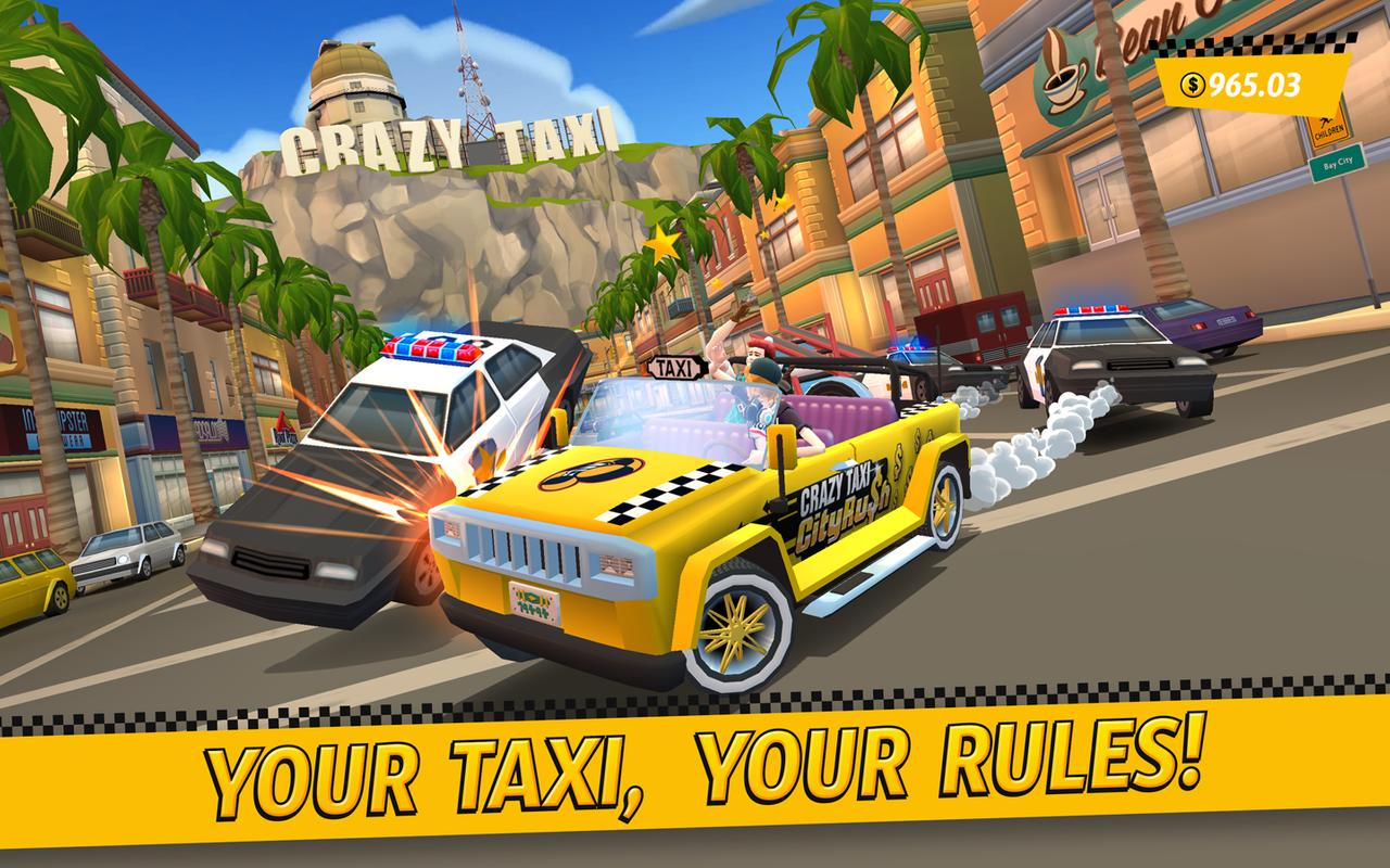 crazy taxi city rush apk download free racing game for android. Black Bedroom Furniture Sets. Home Design Ideas