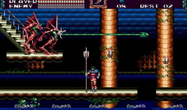 Castlevania Bloodlines sega included cheats screenshot 4