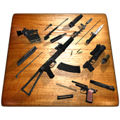 Weapon stripping 3D icon