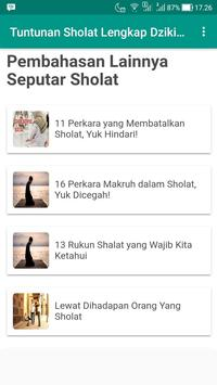 Tuntunan Sholat Lengkap Dzikir dan Doa screenshot 1