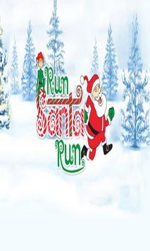 Santa Run happy new year 2017 poster