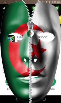 Zipper Lock Algeria Flag poster