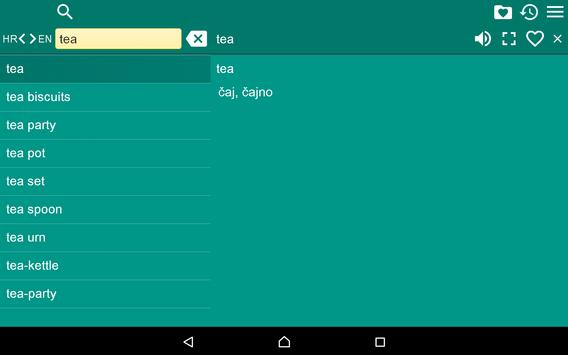 English Croatian Dictionary Fr apk screenshot