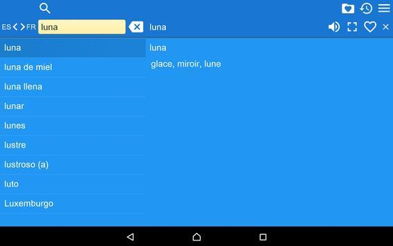 Spanish French Dictionary Free apk screenshot