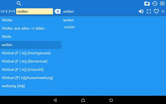 French German Dictionary Free apk screenshot