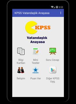 KPSS Vatandaşlık Anayasa 2017 screenshot 3
