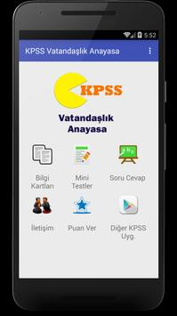 KPSS Vatandaşlık Anayasa 2017 poster