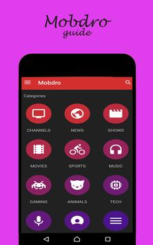 Guide Mobdro Tv screenshot 1