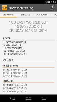 simple workout log poster